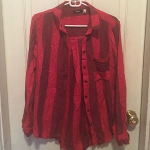 Red Striped Urban Outfitters Flannel